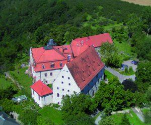 Luftbild von Schloß Batzdorf